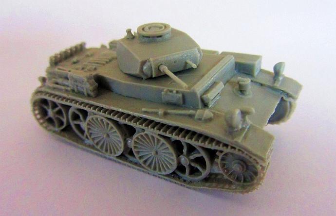 dt. Panzer I-C n.A. VK. 601 Epoxid Komplettmodell, 57 Teile...