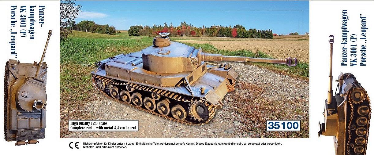 """Panzerkampfwagen VK3001 (P) - Porsche """"Leopard""""..."""