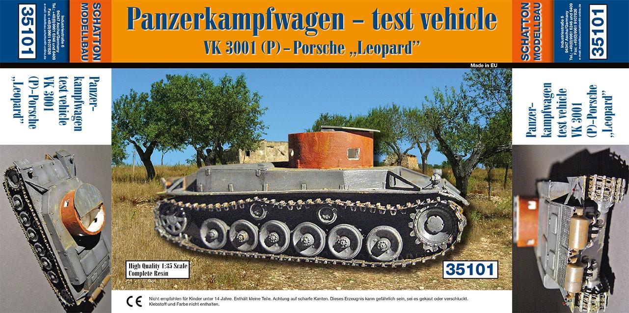 """Panzerkampfwagen - test vehicle; VK 3001 (P) - Porsche """"Leop..."""
