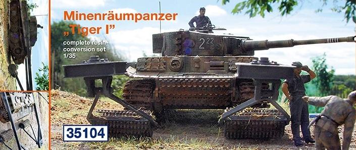 """Minenräumpanzer """"Tiger I""""..."""
