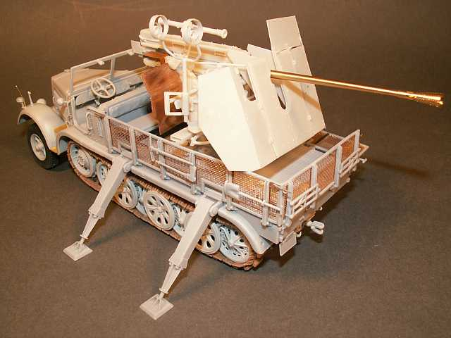 Umbausatz: 5 cm Flak 41 für Trumpeter 8-tonner Zugmaschine S...