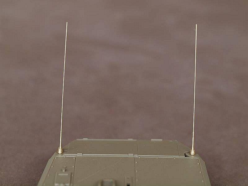 2 German Bundeswehr Antennen mit Sockel komplett...