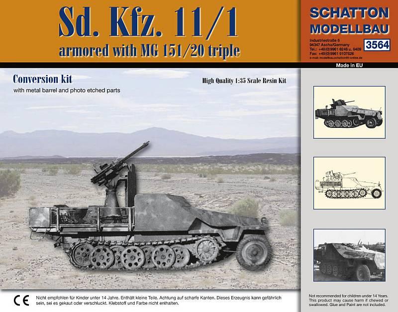 Sd. Kfz. 11/1 amored with MG 151/20 triple...