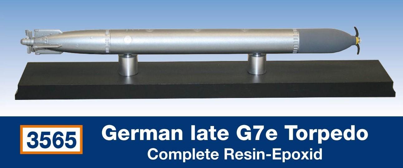 German late G7e Torpedo / Resin-Epoxid...