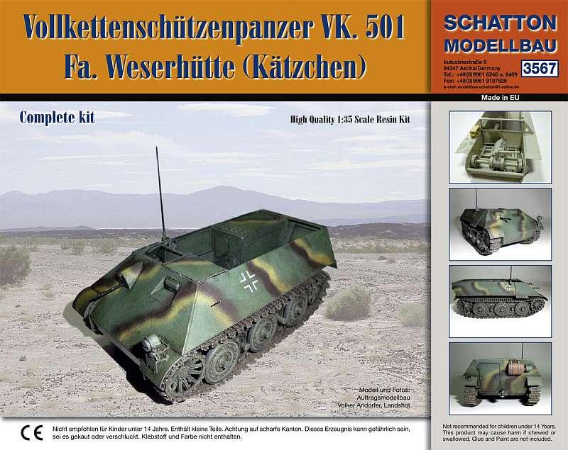 German armored ammunitions carrier VK. 501 / Weserhütte (Kät...