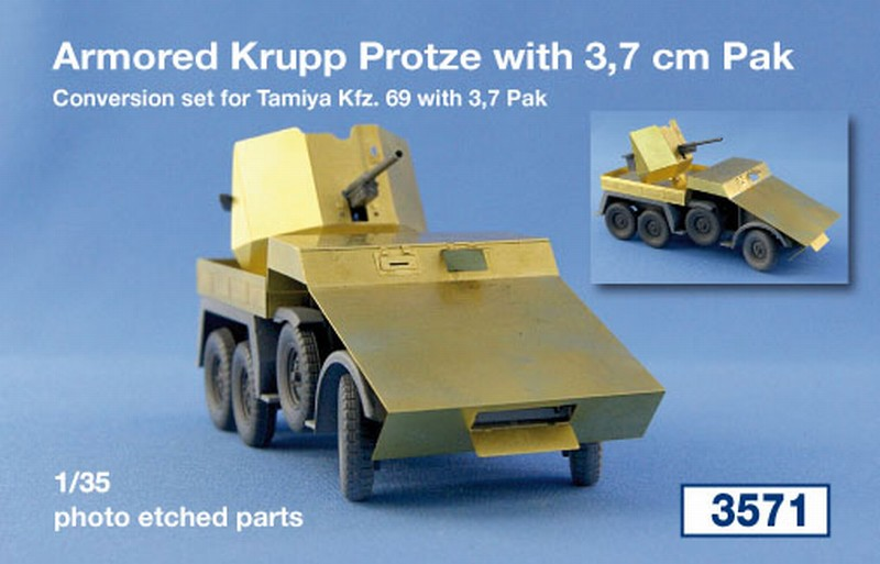 Armored Krupp Protze with 3,7 cm Pak; Conversion set for Ta...