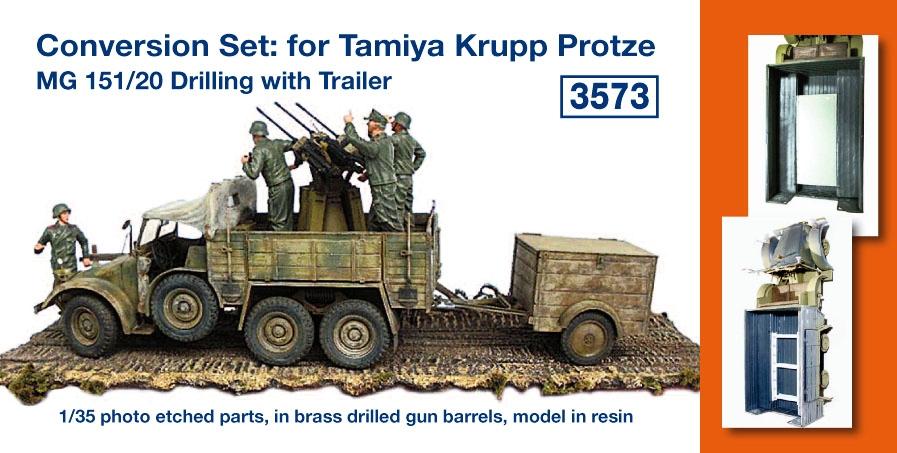 Conversion Set: for Tamiya Krupp Protze; MG 151/20 Drilling ...