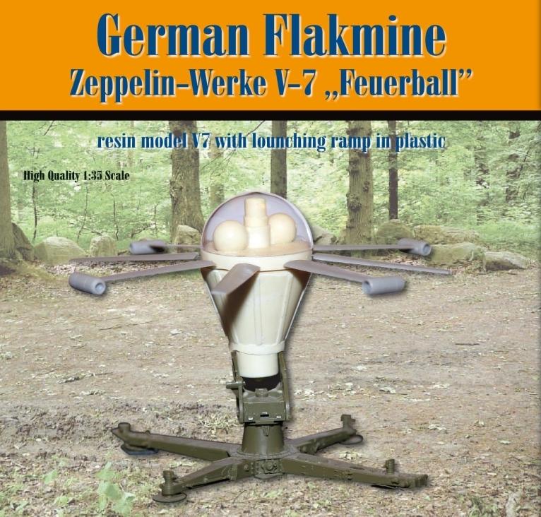 "German Flakmine; Zeppelin-Werke V-7 ""Feuerball""..."