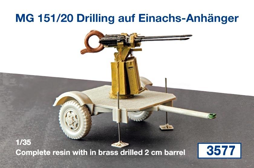 MG 151/20 Drilling auf Einachs-Anhänger...