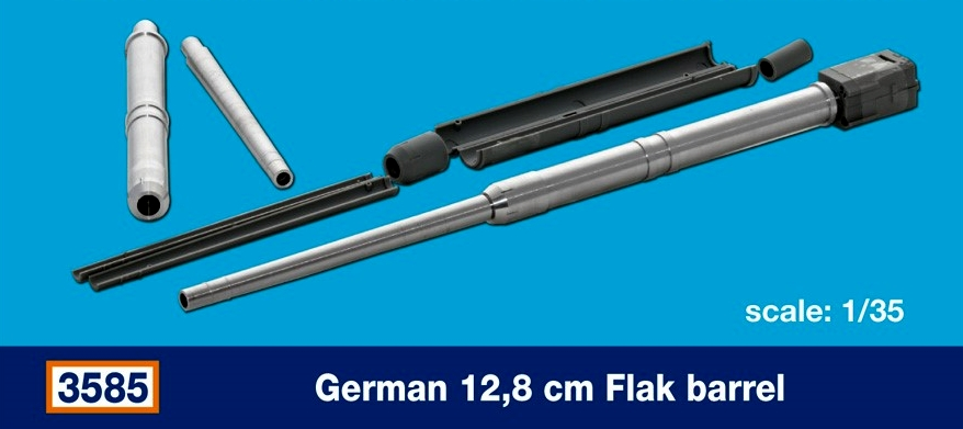 German 12,8 cm Flak barrel...