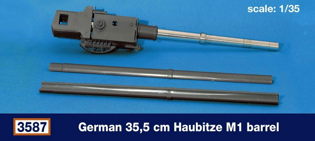 German 35,5 cm Haubitze M1 barrel...