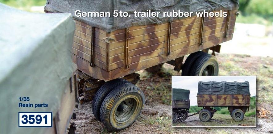 German 5 to. trailer; rubber wheels...