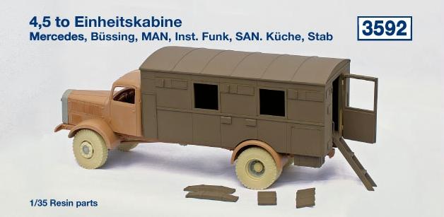4,5 to. Einheitskabine. Mercedes, Büssing, MAN, Inst. Funk, ...