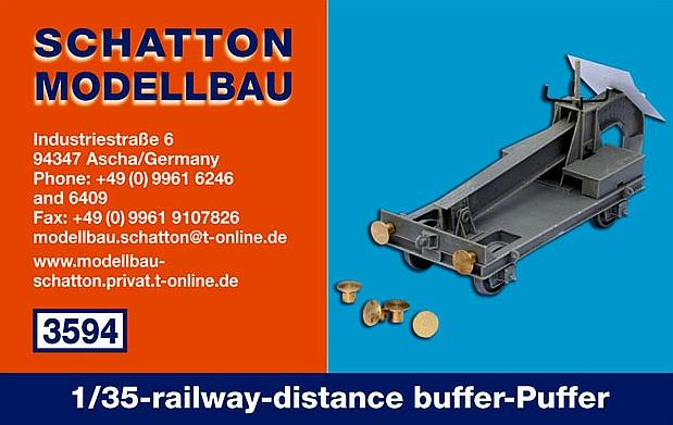 1/35-railway-distance buffer-Puffer; 2er Set...