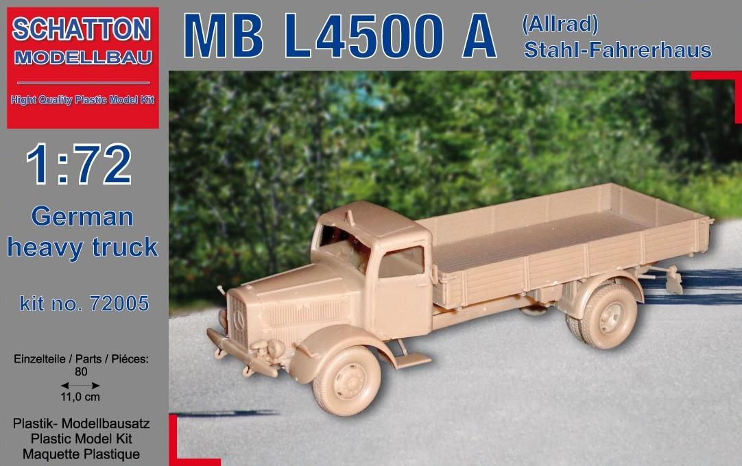 German Truck MB L4500 A (Allrad) Stahl-Fahrerhaus...