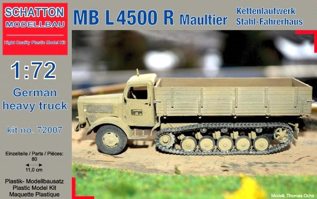 German Heavy Truck MB L4500 R Maultier; Kettenlaufwerk, Stah...