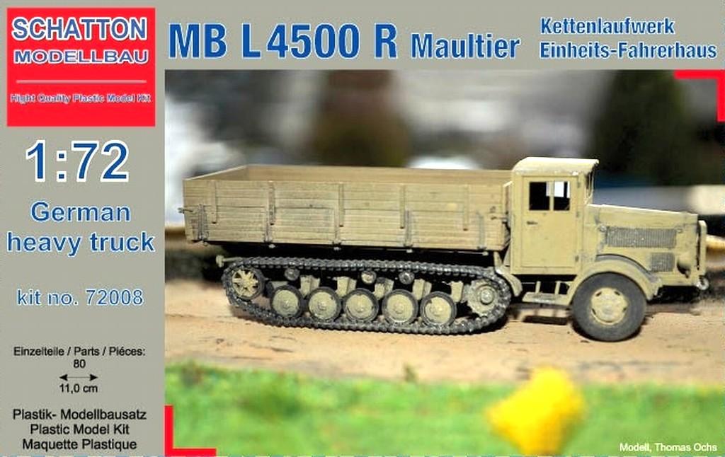 German Heavy Truck MB L4500 R Maultier; Kettenlaufwerk, Einh...