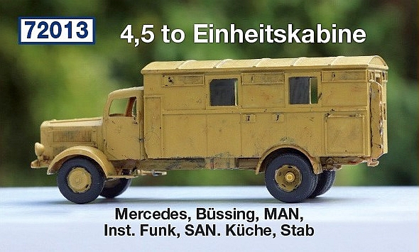4,5 to Einheitskabine: Mercedes, Büssing, MAN, Inst. Funk, S...