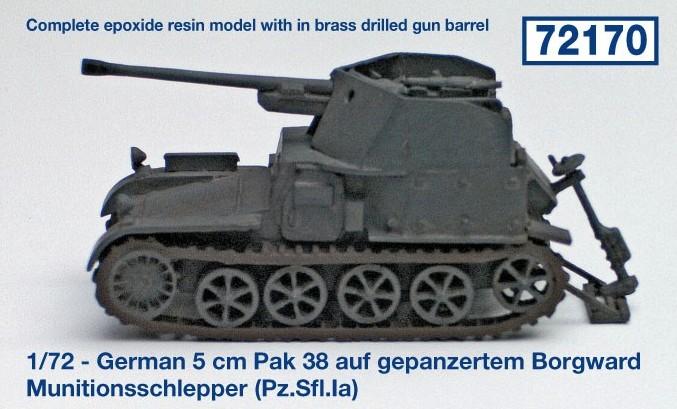German 5 cm Pak 38 auf gepanzertem Borgward Munitionsschlepp...