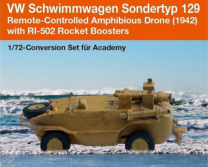 VW Schwimmwagen Sondertyp 129; Remote-Controlled Amphibious ...