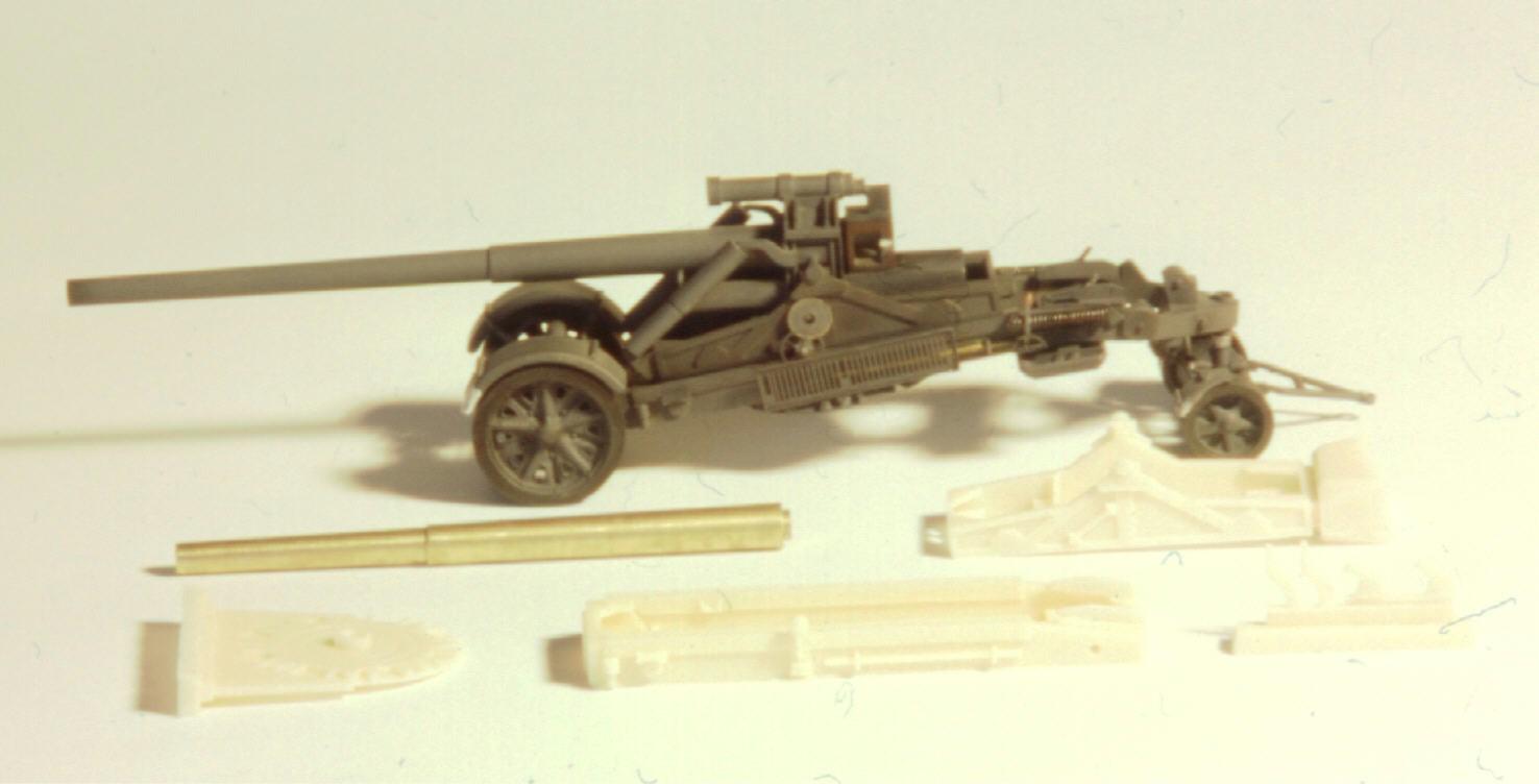dt. 17 cm Kanone 18 Matterhorn mit Protze und Messing Dreh R...