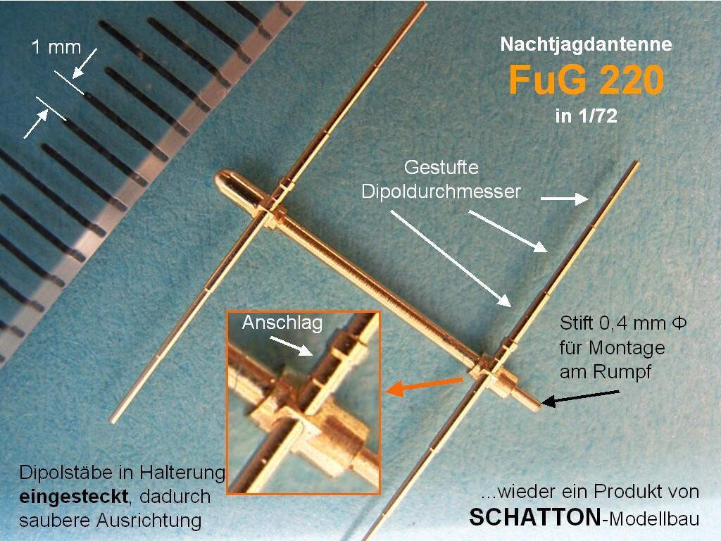 dt. Basis Nachtjagdgerät Lichtenstein SN 220, 4 Haltearme, 8...