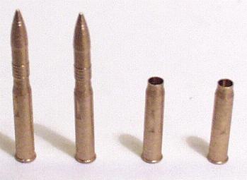 dt. 7,5 cm Granaten 7 komplett und 7 verschossen, in Messin...